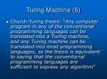 turing machine 5