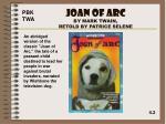 joan of arc by mark twain retold by patrice selene