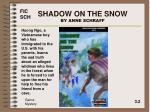shadow on the snow by anne schraff