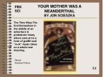 your mother was a neanderthal by jon scieszka