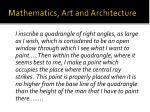 mathematics art and architecture