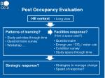 post occupancy evaluation22