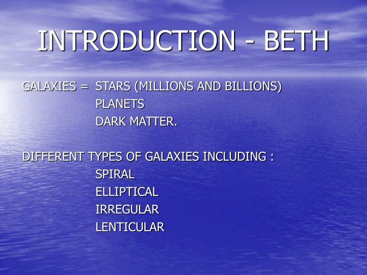 Introduction beth