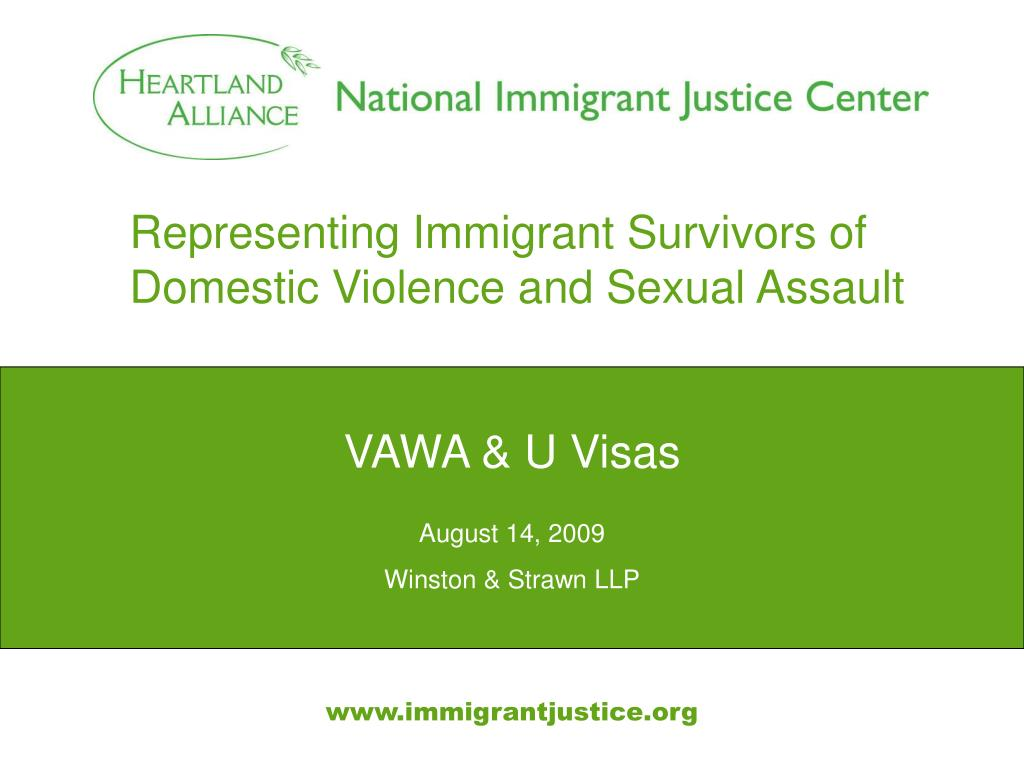 representing immigrant survivors of domestic violence and sexual assault l.