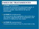fases de tratamiento