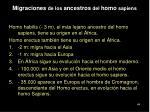 migraciones de los ancestros del homo sapiens