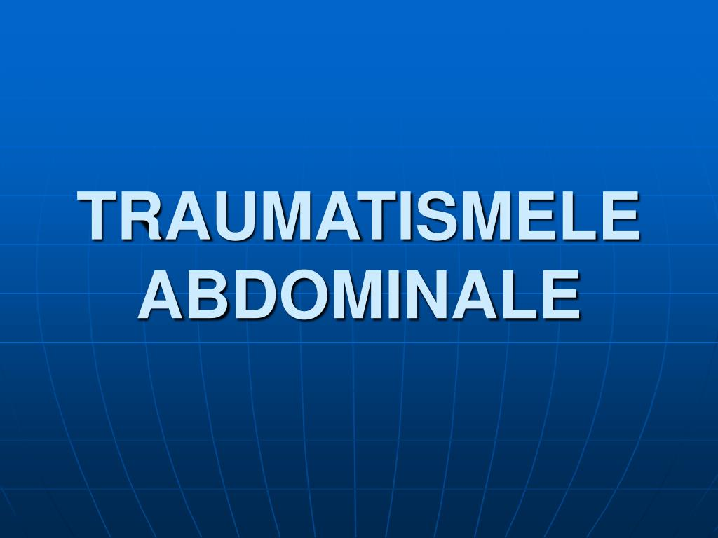 traumatismele abdominale l.