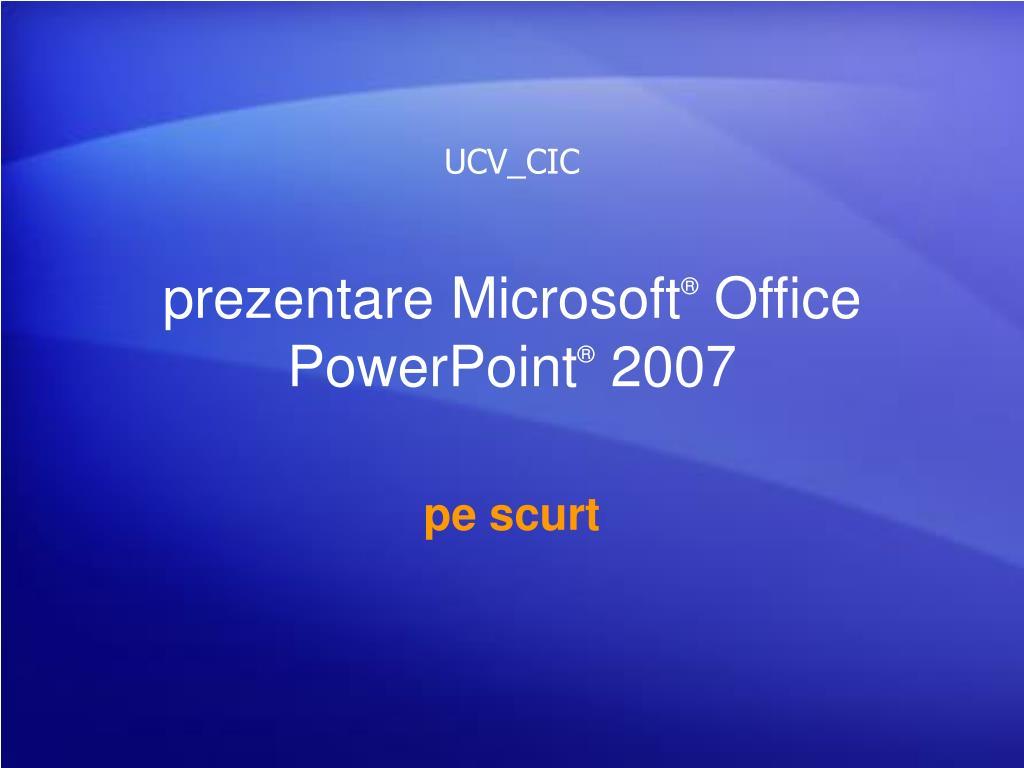 prezentare microsoft office powerpoint 2007 l.