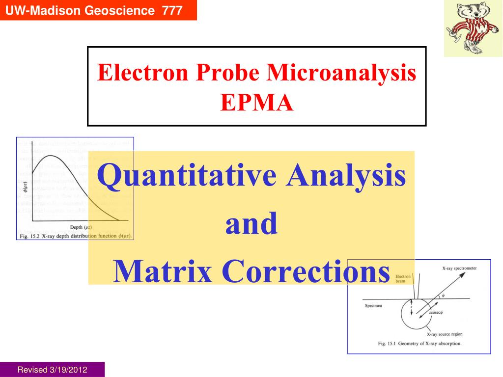 electron probe microanalysis epma l.