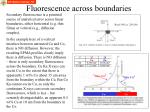 fluorescence across boundaries