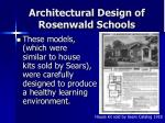 architectural design of rosenwald schools
