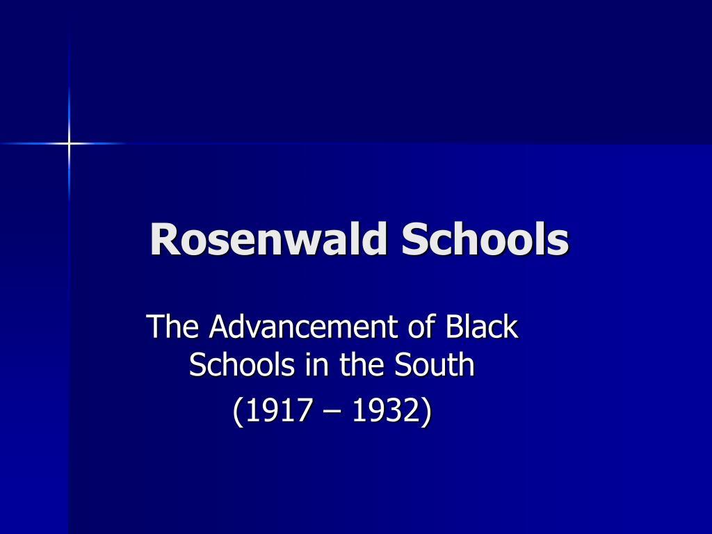 rosenwald schools l.