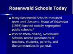 rosenwald schools today