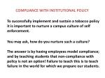 compliance with institutional policy