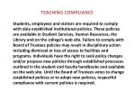 teaching compliance9