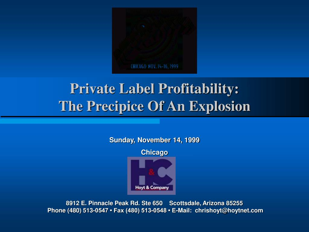 private label profitability the precipice of an explosion l.