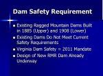 dam safety requirement