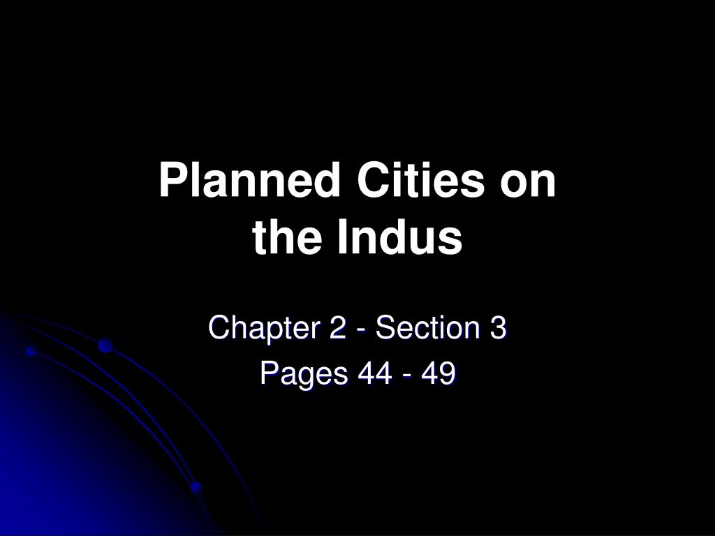 planned cities on the indus l.