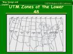 utm zones of the lower 48