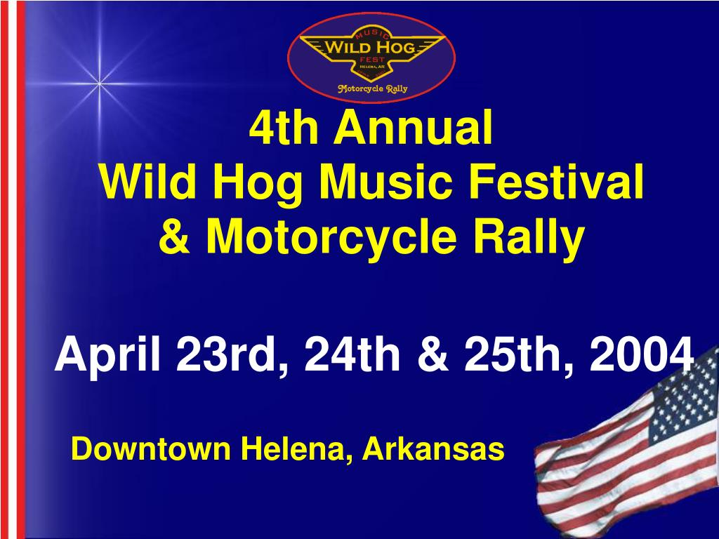 4th annual wild hog music festival motorcycle rally l.
