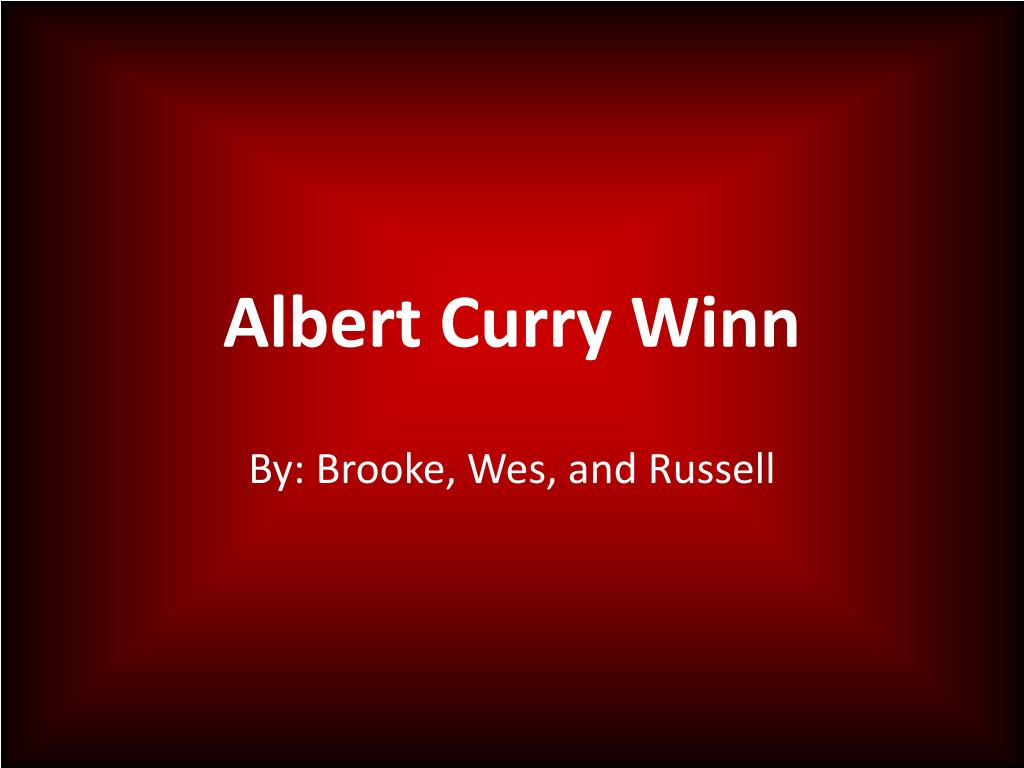 albert curry winn l.