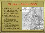 31 jan 9 feb 1968