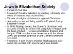jews in elizabethan society