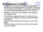 shakespeare s intent