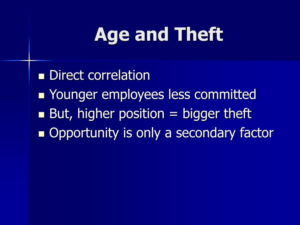 Age and Theft