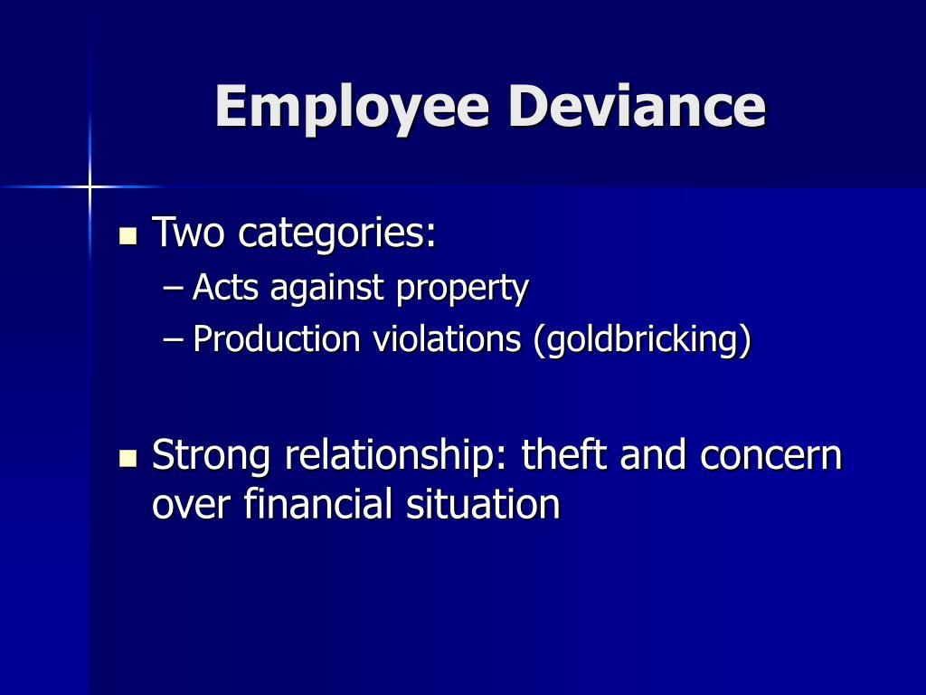 Employee Deviance