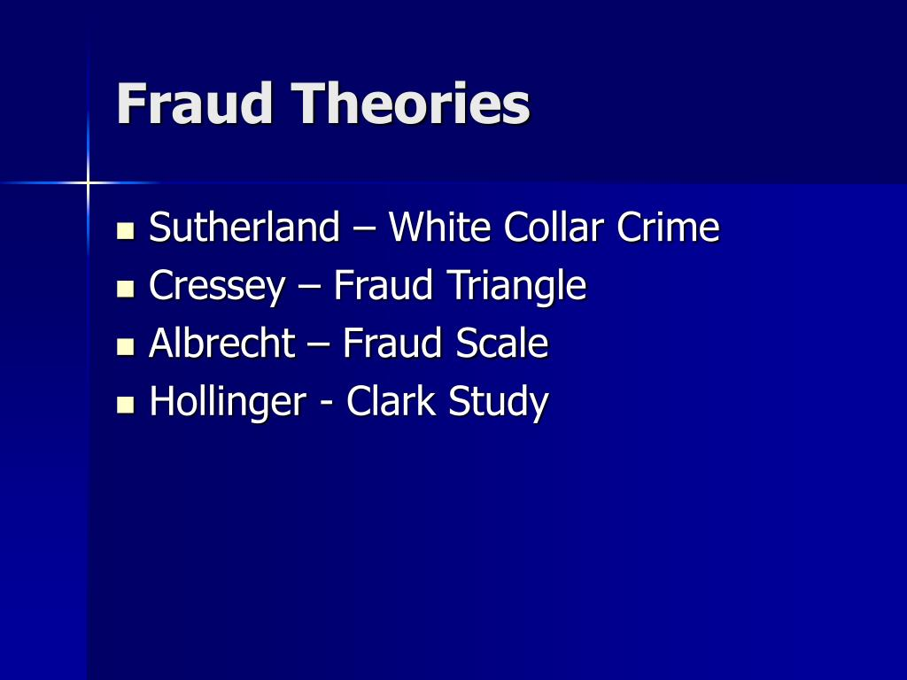 Fraud Theories