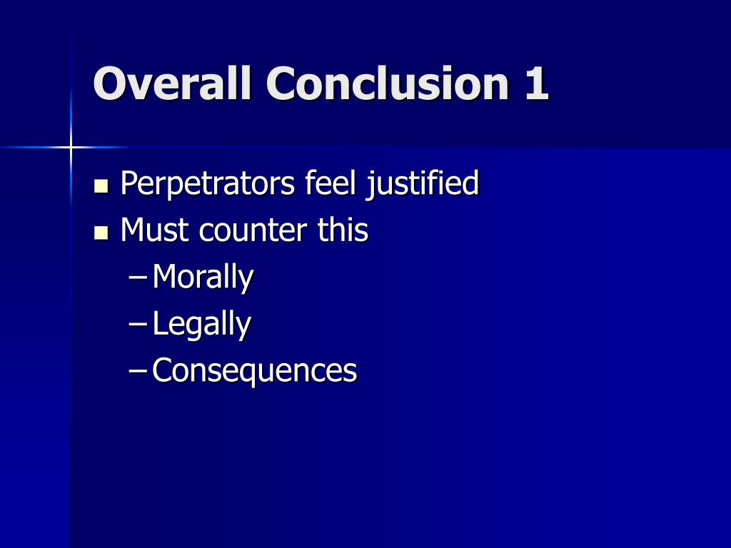 Overall Conclusion 1