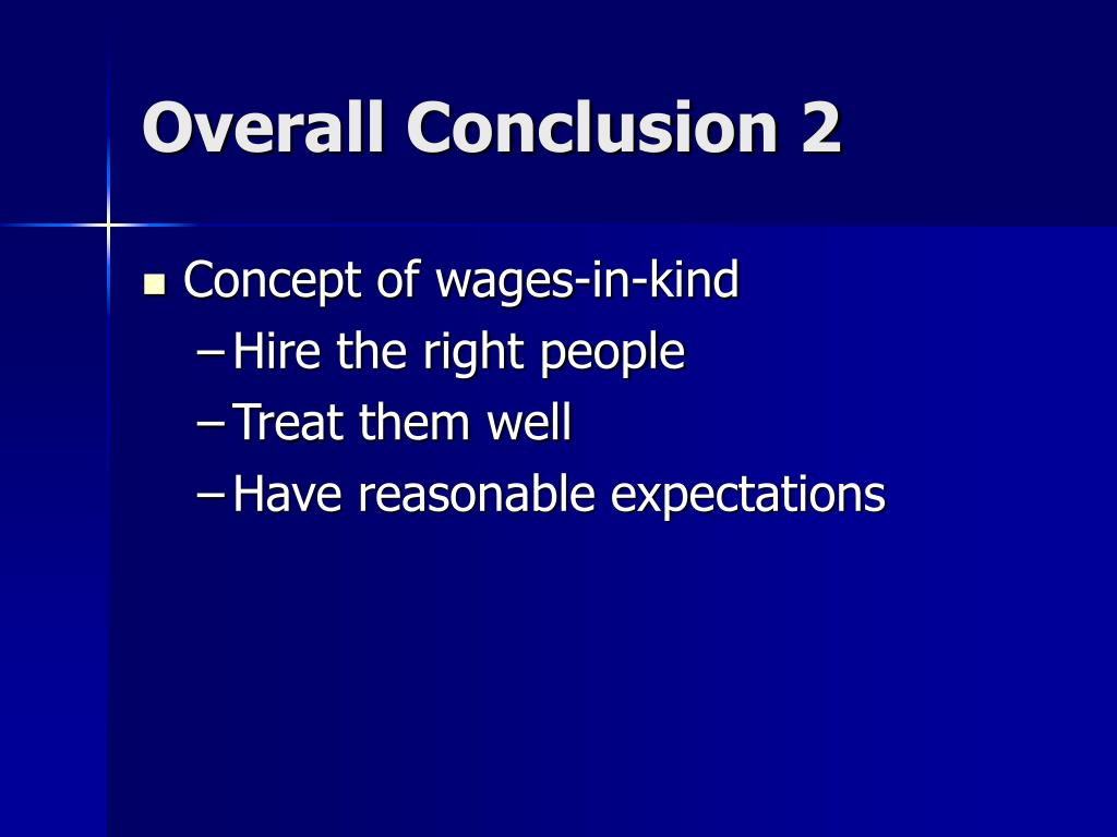 Overall Conclusion 2