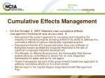 cumulative effects management