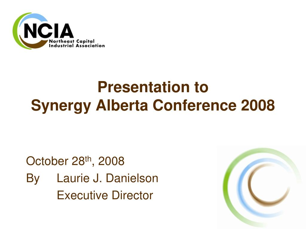 presentation to synergy alberta conference 2008 l.