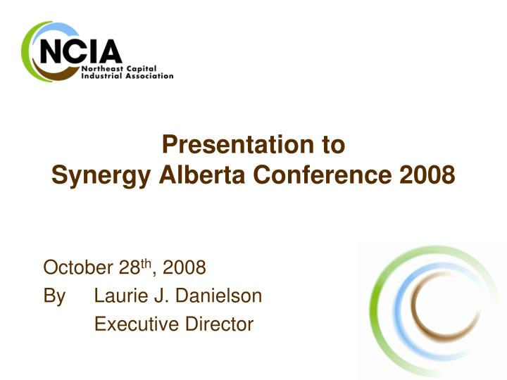 presentation to synergy alberta conference 2008 n.