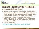 regional projects in the heartland cumulative effects water15