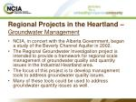 regional projects in the heartland groundwater management