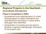 regional projects in the heartland groundwater management27