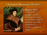 christian humanist writers1