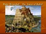 peter brueghel the tower of babel