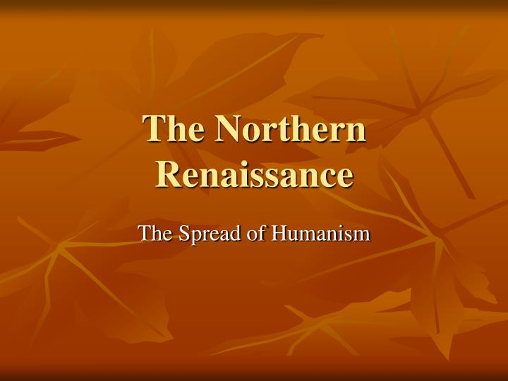 the northern renaissance n.