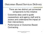 outcomes based services delivery11