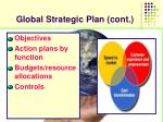 global strategic plan cont