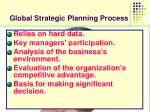 global strategic planning process