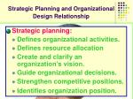 strategic planning and organizational design relationship
