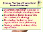 strategic planning organizational design relationship