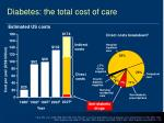 diabetes the total cost of care