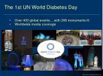 the 1st un world diabetes day