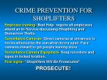 crime prevention for shoplifters